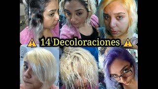 getlinkyoutube.com-Mi Cabello platinado y sus 14 decoloraciones / Silver hair