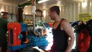 getlinkyoutube.com-6 cylinder Fordson Major 300bhp pulling tractor
