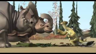 Ice Age 1 Sid and Rhino with Mammoth