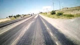 Nevşehir Acıgöl yolunda asfalt sıcaktan eridi...
