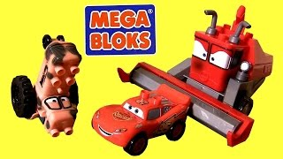 getlinkyoutube.com-MegaBloks Cars Tractor Tipping 7786 with Frank the Combine & Lightning McQueen Lego DisneyPixarCars