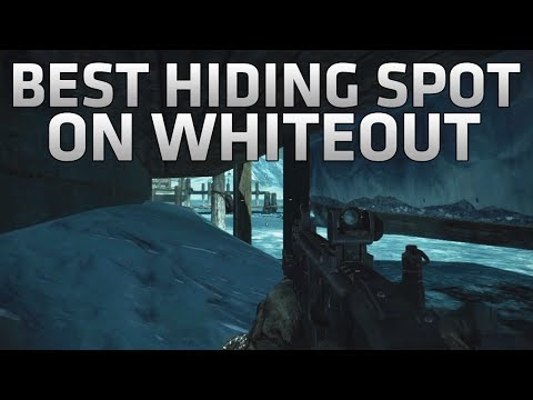 COD Ghosts - Best Hiding Spot on Whiteout! - Under the Map Glitch - Best Infected Spot on Whiteout