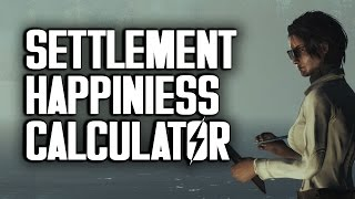 getlinkyoutube.com-Settlement Happiness Calculator by Oxhorn - Fallout 4