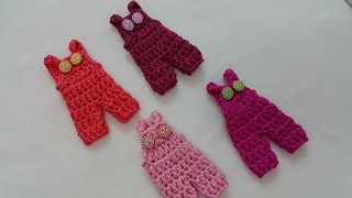 getlinkyoutube.com-How to crochet mini romper كروشيه ميني افرول توزيعات