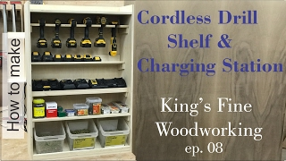 getlinkyoutube.com-08 How to Build a Cordless Drill Shelf and Charging Station to hang on french cleats