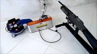 getlinkyoutube.com-Kit Compressor Multiplicador Shoebox MAX 4500 PSI para carabinas de PCP co2brasil