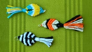 getlinkyoutube.com-Easy Macrame Fish / Pesce, Pescado, Poisson, Peixe, Ikan, Fisch, Рыба, Ryba, 魚