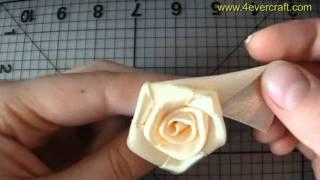 getlinkyoutube.com-Мастер-класс по созданию розы из ленты (handmade ribbon rose)