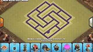 clash of clans สอนจัดบ้านเลเวล7(EP4)