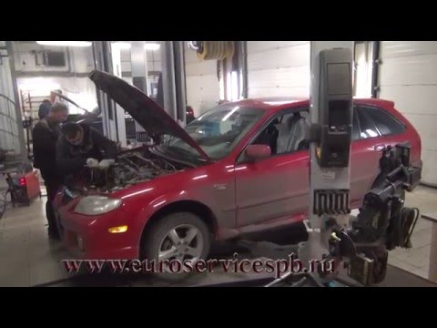 Установка пламегасителей на Mazda Protege. Установка пламегасителей на Mazda Protege в СПБ.