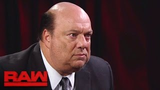 getlinkyoutube.com-Paul Heyman makes a jaw-dropping Brock Lesnar announcement: Raw, Nov. 28, 2016