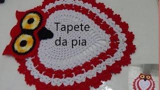 getlinkyoutube.com-Tapete da pia e do vaso  (Jogo de banheiro CORUJA)