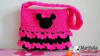 getlinkyoutube.com-How to crochet minnie mouse bag  soda tab purse full free pattern tutorial for beginners