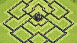 getlinkyoutube.com-Th9 defense base | Hybrid base | Diseño de aldea | Clash of clans