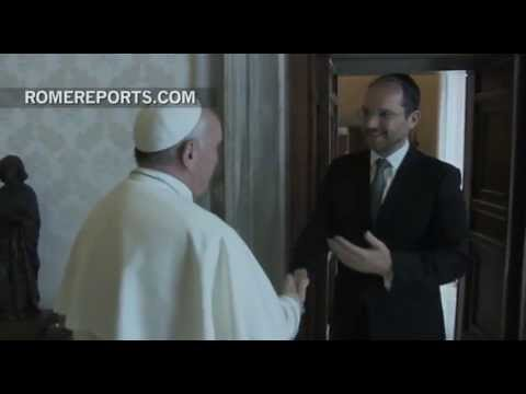 Pope reunites with Buenos Aires Sephardi chief rabbi