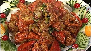 getlinkyoutube.com-Delicious 123 Chinese Cooking Show - Chef Liang - Lobster Noodles Seafood Dish WCETV