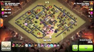 getlinkyoutube.com-Clear 3 stars at clans war th11 max top 1 & 2