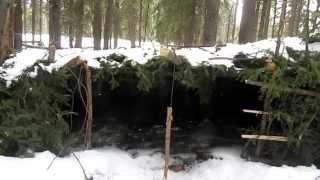 getlinkyoutube.com-The Improved Winter Lean to Bushcraft Shelter