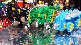 getlinkyoutube.com-よみがえるミニプラ カミツキ合体獣電竜 第二弾 mini Dinosaur