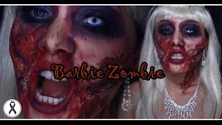 getlinkyoutube.com-How to  : Barbie Zombie  Halloween 2016 I Aremakeup