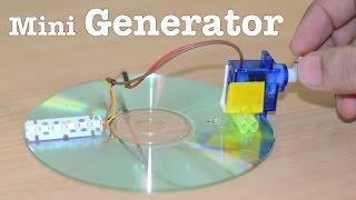 getlinkyoutube.com-How to make a Mini GENERATOR at home using a SERVO - V Easy