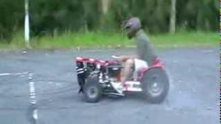 getlinkyoutube.com-芝刈り機にロータリーエンジンを搭載してみたらこうなった