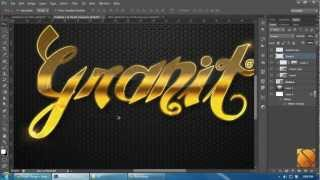 getlinkyoutube.com-Tutorial Photoshop CS6 [HD]: How to make Pattern and Gold Text Style