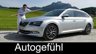 getlinkyoutube.com-New Skoda Superb Combi L&K FULL REVIEW test driven 2016 TDI - Autogefühl