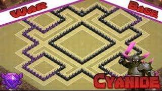 getlinkyoutube.com-Clash Of Clans: TH8 Anti Air & GOWIPE Base - Cyanide