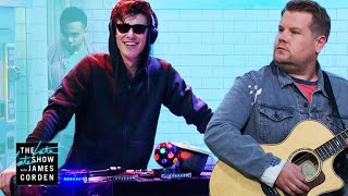 Shawn Mendes Destroys James In a Cover Battle #LateLateShawn width=