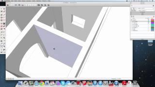 ١٠- SketchUp سكتش اب : رسم جدران الدور الأول وتعديل الأبواب والمساحات