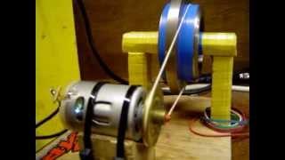 getlinkyoutube.com-12 Volt Motor Blows It's Guts on 60 Volts