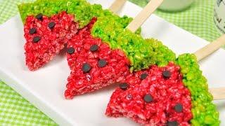 getlinkyoutube.com-ข้าวพองแตงโม Watermelon Rice Krispie