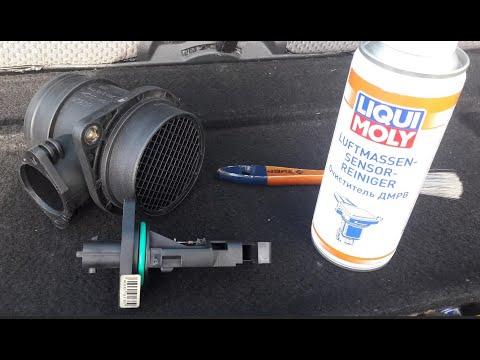 Промывка датчика ДМРВ (датчик массового расхода воздуха)
