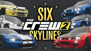 6 SKYLINE GTR's In 6 MINUTES?! The Crew 2