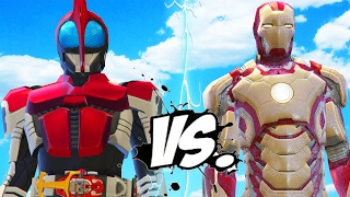 getlinkyoutube.com-IRON MAN VS KAMEN RIDER KABUTO - EPIC BATTLE