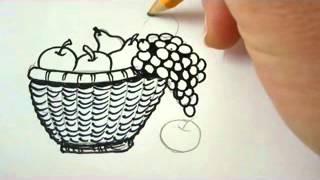 getlinkyoutube.com-How To Draw A Bowl Of Fruit
