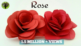 "getlinkyoutube.com-How to make a easy realistic paper ""💕 Valentine Rose 🌹 "" - Paper crafts tutorial"