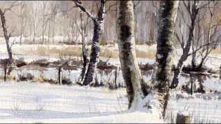 getlinkyoutube.com-Winter Landscape, watercolor paintings by Erik Lundgren