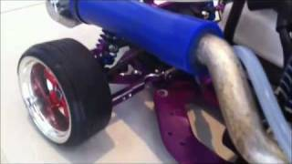 getlinkyoutube.com-Heavily modified custom 1/10 HPI nitro RC drift JZX100 with rear mounted exhaust.