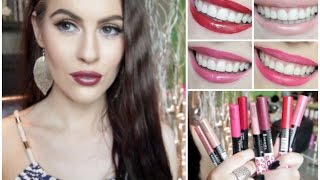getlinkyoutube.com-Rimmel Provocalips | Whole Collection Review and Lip swatches