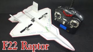 How To Make A RC Airplane F-22 Raptor