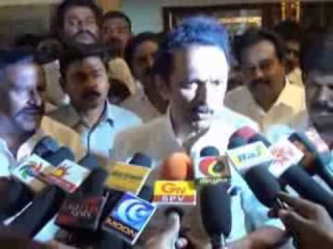 TRICHY ... DMK TREASURER M.K.STALIN BYTE