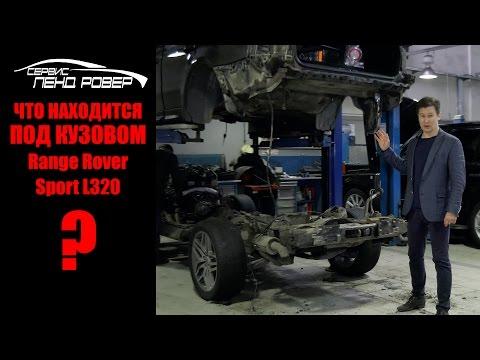 Основные элементы под кузовом Range Rover Sport L320