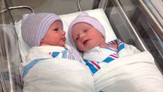 getlinkyoutube.com-Newborn twins talking to each other