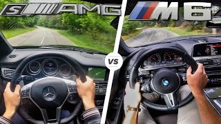 BMW M6 vs Mercedes AMG CLS 63 S Acceleration TOP SPEED POV & Sound by AutoTopNL