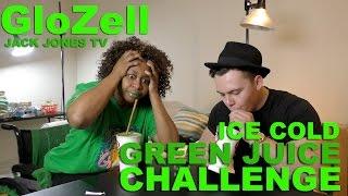 getlinkyoutube.com-Ice Cold Green Juice Challenge - GloZell & Jack Jones TV