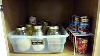 getlinkyoutube.com-Pantry Organization {How to Organize Deep Cabinets}