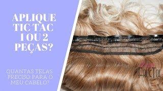 getlinkyoutube.com-Aplique tic tac para cabelos curtos como colocar 2 telas-Tela Grande e Pequena- Falctol Loja
