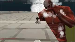 getlinkyoutube.com-Attack on titan Game:Boss Titan 60เมตร